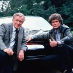 Devon Miles And Michael Knight with KITT
