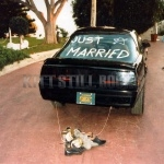 KITT with Just Married written on the back glass