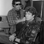 David Hasselhoff is getting Hair and makeup done