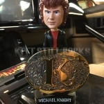 Michael Knight Bobble Head and Belt Buckle