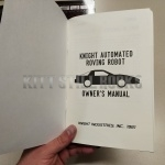 Knight Automated Roving Robot Owner's Manual