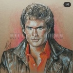 Drawing of Michael Knight
