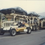 Semi load of KITTS for the Knight Rider TV Show