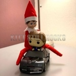 Elf on the Shelf with KITT and Michael Knight